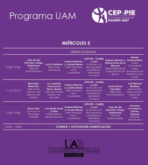 programa ceip pie congreso psicología miércoles